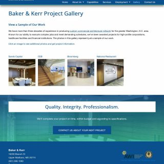 Galleries page desktop view - full page