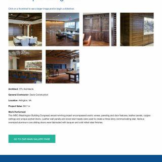 Gallery detail desktop view - full page