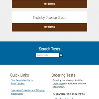 Home page mobile view - full page