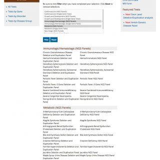 Test list desktop view - full page